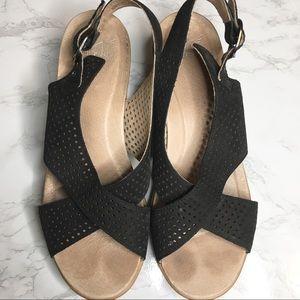 Dansko Jacinda Black Wedge Sandal